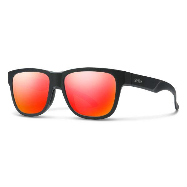 okulary smith lowdown slim 2 matte black red mirror 20104400351UZ