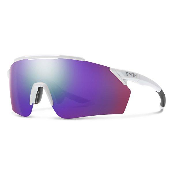 okulary smith ruckus matte white chromapop violet mirror 2015226HT99DI