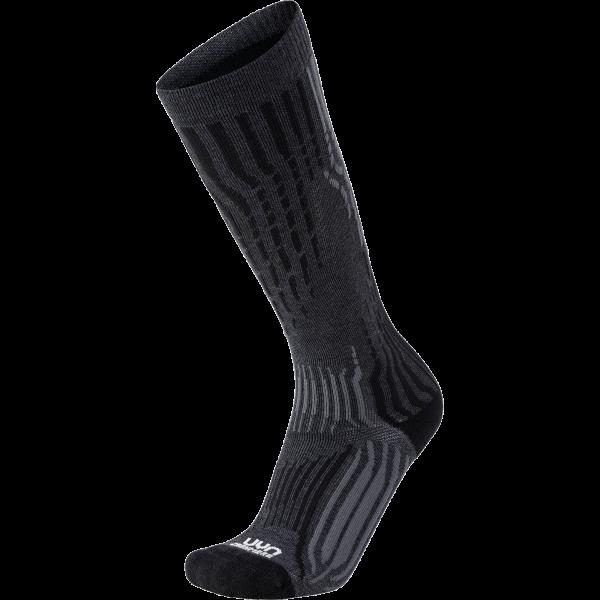 skarpety uyn ski cashmere socks grey rock black