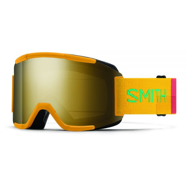 Gogle SMITH SQUAD Saffron Landscape ChromaPop Sun Black Gold Mirror + Yellow 2022