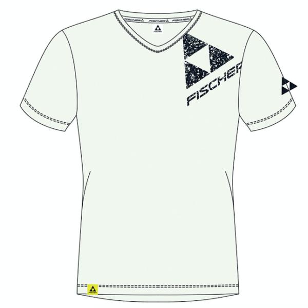 t-shirt fischer silvretta nova white