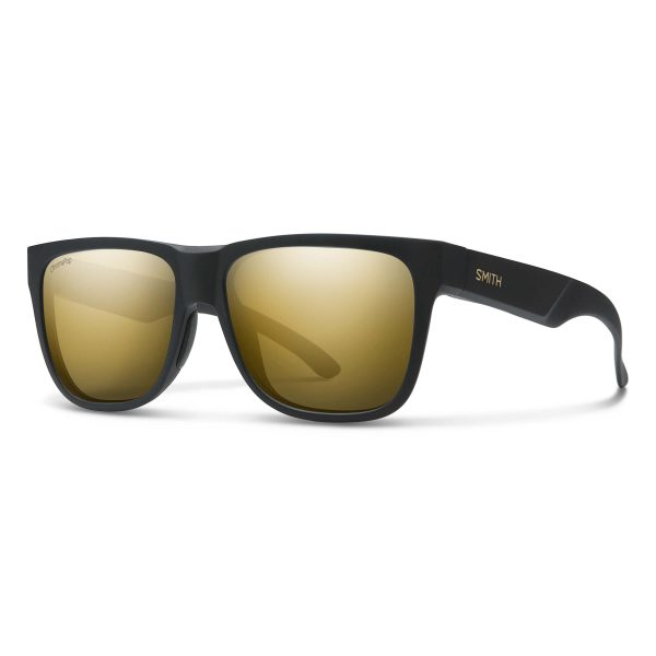 okulary smith lowdown 2 matte black gold chromapop polarized black gold 2009410NZ56HN