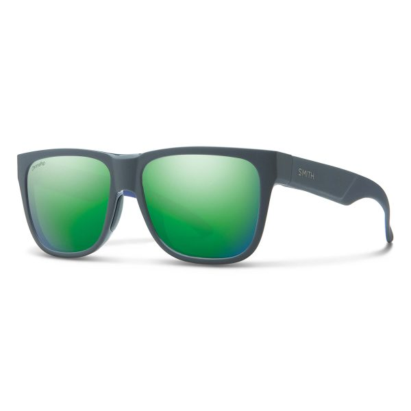 okulary smith lowdown 2 matte smokey blue chromapop green 2009418HT56MC