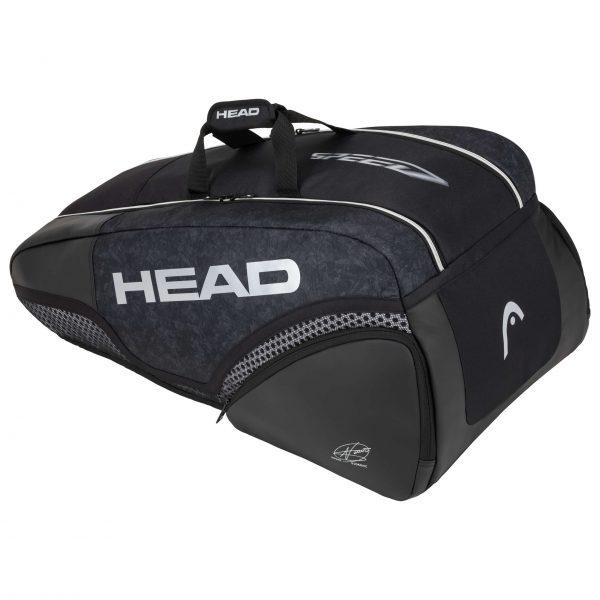 torba tenisowa head Djokovic 9R Supercombi black grey