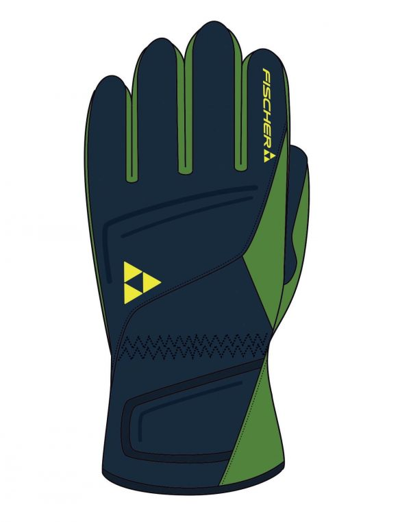 Rękawiczki FISCHER SKIGLOVE MICRO Navy/ Green 2018