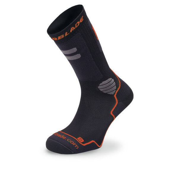 skarpetki rollerblade high performance socks black red